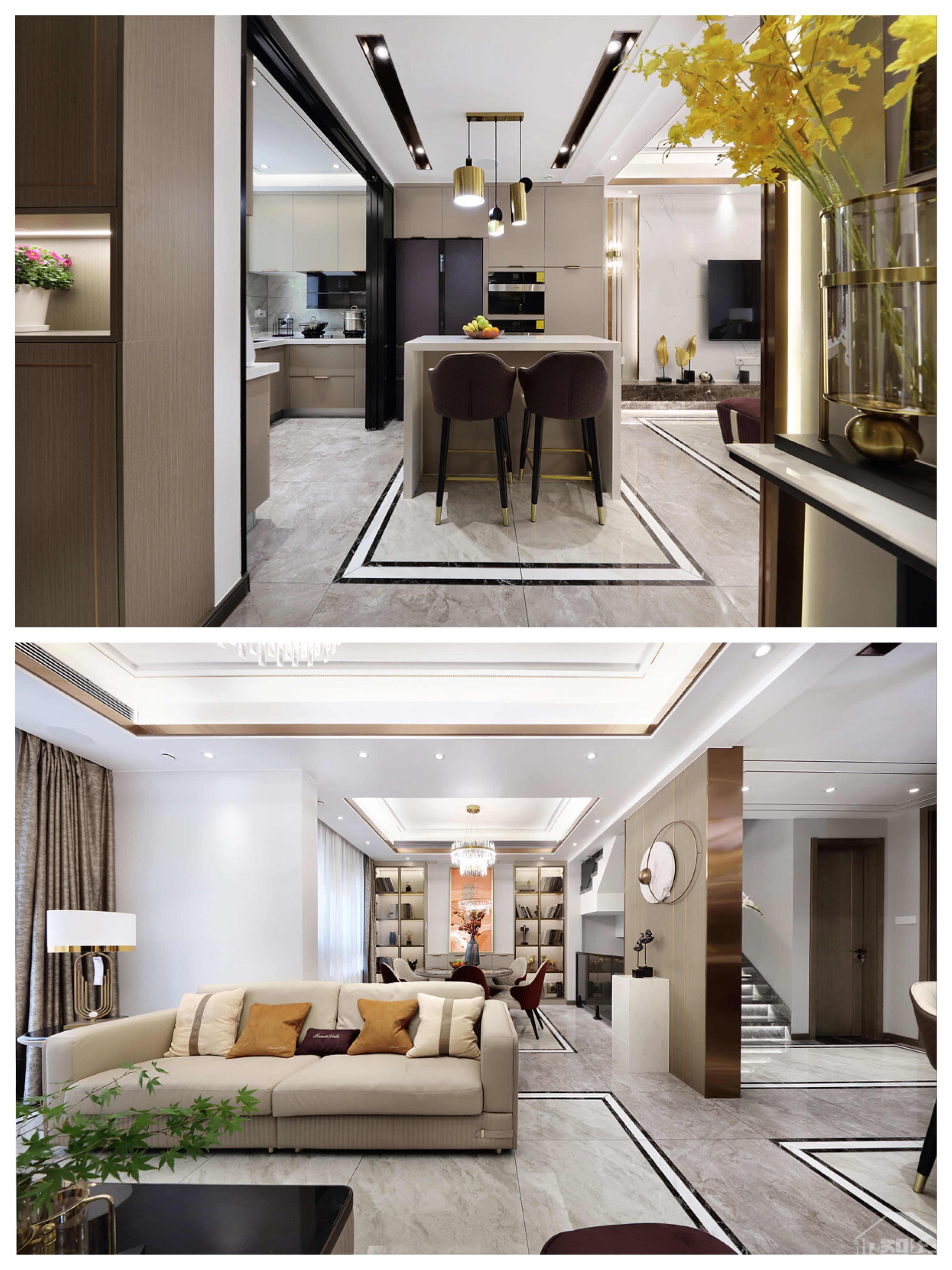 别墅豪宅装修-125㎡小联排,张弛有度巧设计,满足对家的所有想象!